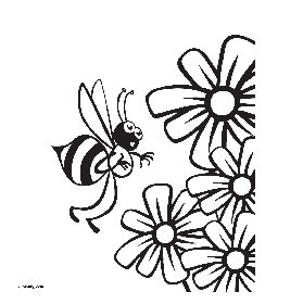 free coloring pages Bee