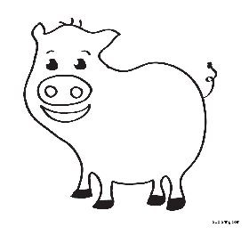 free coloring pages Pig