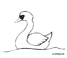 free coloring pages Swan